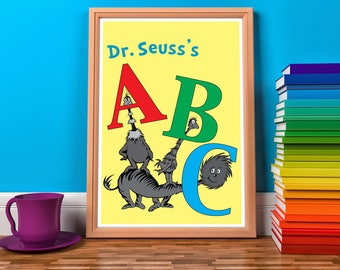 Prints for a Playroom. Nursery room. Corner Read. Holiday Deals Combo. Thanks giving 006 Children's book - art - decor room - ABC