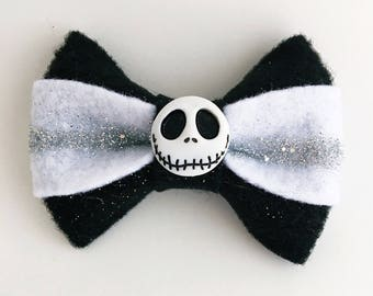 Jack Skellington Felt Bow
