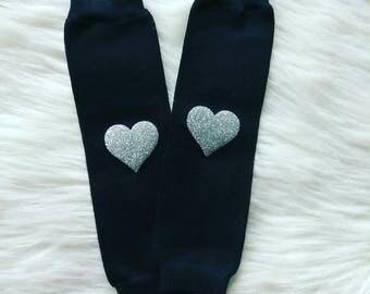 Black baby leg warmers