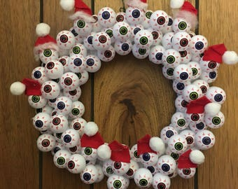 Santa Eyeball Wreath