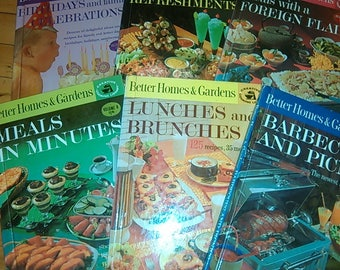 Vintage 1963 Better Homes & Gardens Creative Cooking Library Collection Cookbooks 2 4 5 6 7 8
