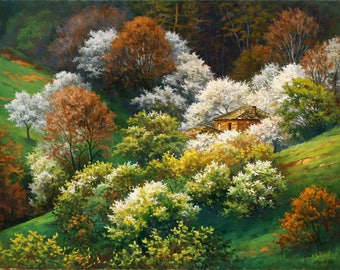 White Spring - original oil painting