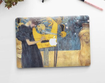 "Gustav Klimt, ""Music"". Macbook Pro 15 decal, Macbook Pro 13 decal, Macbook 12 decal. Macbook Pro decal. Macbook Air decal."