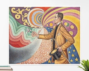 "Paul Signac, ""Portrait of Félix Fénéon"". Art poster, art print, rolled canvas, art canvas, wall art, wall decor"