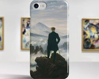 "C. D. Friedrich, ""The Wanderer Above the Sea..."". iPhone 8 Case Art iPhone 7 Case iPhone 6 Plus Case and more. iPhone 8 TOUGH cases."