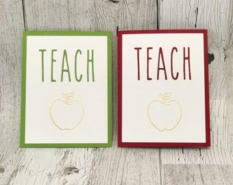 TEACH Card | Teacher Apprecation Card | Rae Dunn Inspired