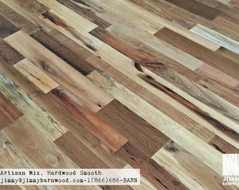 Ready to Install Reclaimed Wood Floor, Artisan Mix Hardwood Floor, Smooth, Reclaimed Flooring, Reclaimed Wood, Barnwood Floor, Wood Flooring