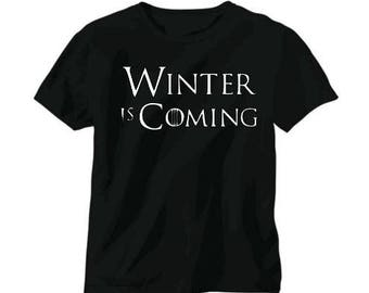 Winter is Coming Game of Thrones Unisex T Shirt Many Sizes Colors Custom Horror Halloween Merch Massacre