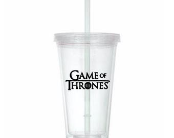 Game of Thrones GOT Horror Tumbler Cup Gift Home Decor Gift for Her Him Any Color Personalized Custom