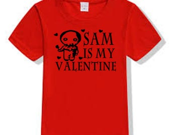 Trick or Treat Sam Slasher Killer Valentine's Day T Shirt Clothes Many Sizes Colors Custom Horror Halloween Merch Massacre