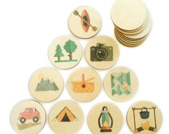 camping - memory match