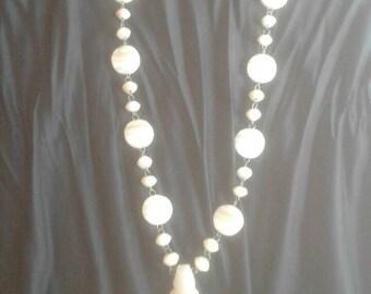 Aztec white onyx necklace