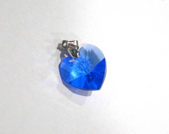 Large Blue Swarovski Crystal Pendant - Collar Add-on
