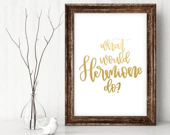 What Would Hermione Do Print, Harry Potter Art, Hermione Art, Hermione Print, Harry Potter Quote, Harry Potter Poster, Instant Download