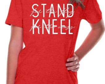 Kids' Stand For The Flag, Kneel For The Cross T-Shirt / Kids' Patriotic  T-Shirts / Graphic Tees / Christmas Gifts / America Shirts / Shirts