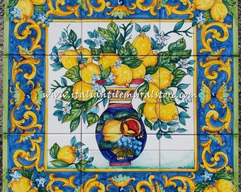 Mural tile backsplash for kitchen - wall murals - handmade tile - backsplash ideas - mosaic tile mural - accent decor art - custom tile