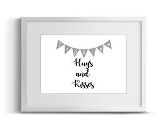 Personalised sweet dreams/hugs and kisses printed picture frame