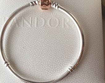 New pandora rose barrel charm bracelet size 21cm
