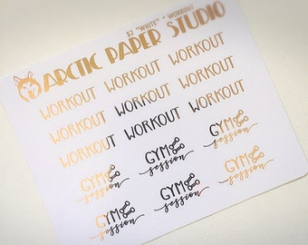 Workout - Functional Icons - FOILED Sampler Event Icons Planner Stickers
