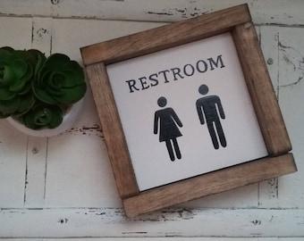 "7"" x 7"" Restroom Sign"