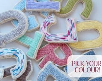 Alphabet Crochet Letter | A-Z (Made to Order)