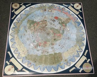Ancient Flat Earth Map Poster - Urbano Monte 1587