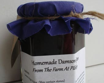 Homemade Whole Fruit Damson Jam