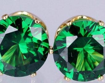 Green Crystal Stud Earrings,Green Earrings,Tiny Stud Earrings,Tiny Crystal Earrings,Bridal Bridesmaid Prom Earrings