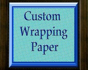Customized Gift Wrap -  FREE SHIPPING