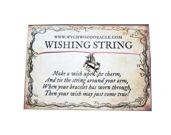 Unicorn Bracelet. Wishing String Bracelet.  Hand Made Bracelet. Good Luck Bracelet. Unicorn. Unicorn Charm. Bracelet. Charm Bracelet.
