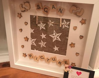 Handmade Scan PictureMemorial Keepsake Frame with Photo Space