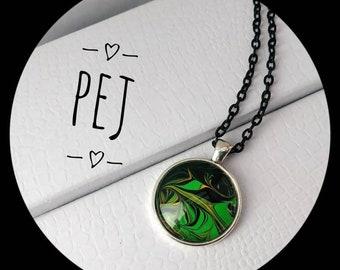 Beautiful,paintpour,cabochon,pendant,necklace,giftsforher