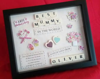 MOTHERS DAY BEST Mum In The World Personalised Keepsake Gift