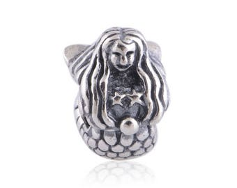 Mermaid Charm, Authentic 925 Sterling Silver Charm Fits to all Pandora Charm Bracelets