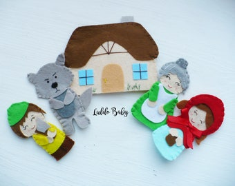 Finger Theater Little Red Riding Hood fairy tale