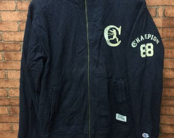 CHAMPION Authentic American Athletic Apparel Rochester NY Large Size Jackets Full Zipper