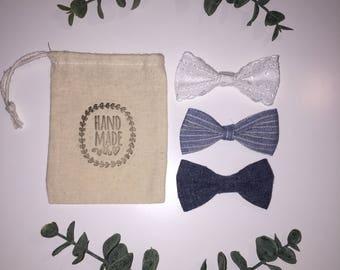 Denim bow set
