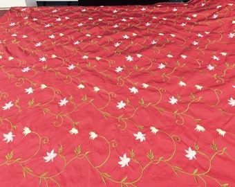 Red Taffeta Fabric