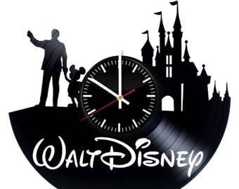 Walt Disney Mickey Mouse Vinyl Wall Clock Handmade Wall Art Room Decor Party Supplies Decoration Theme Birthday Gift For Adults Kids Vintage