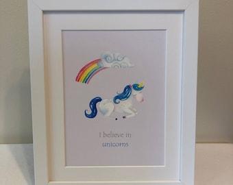 Unicorn gift- unframed