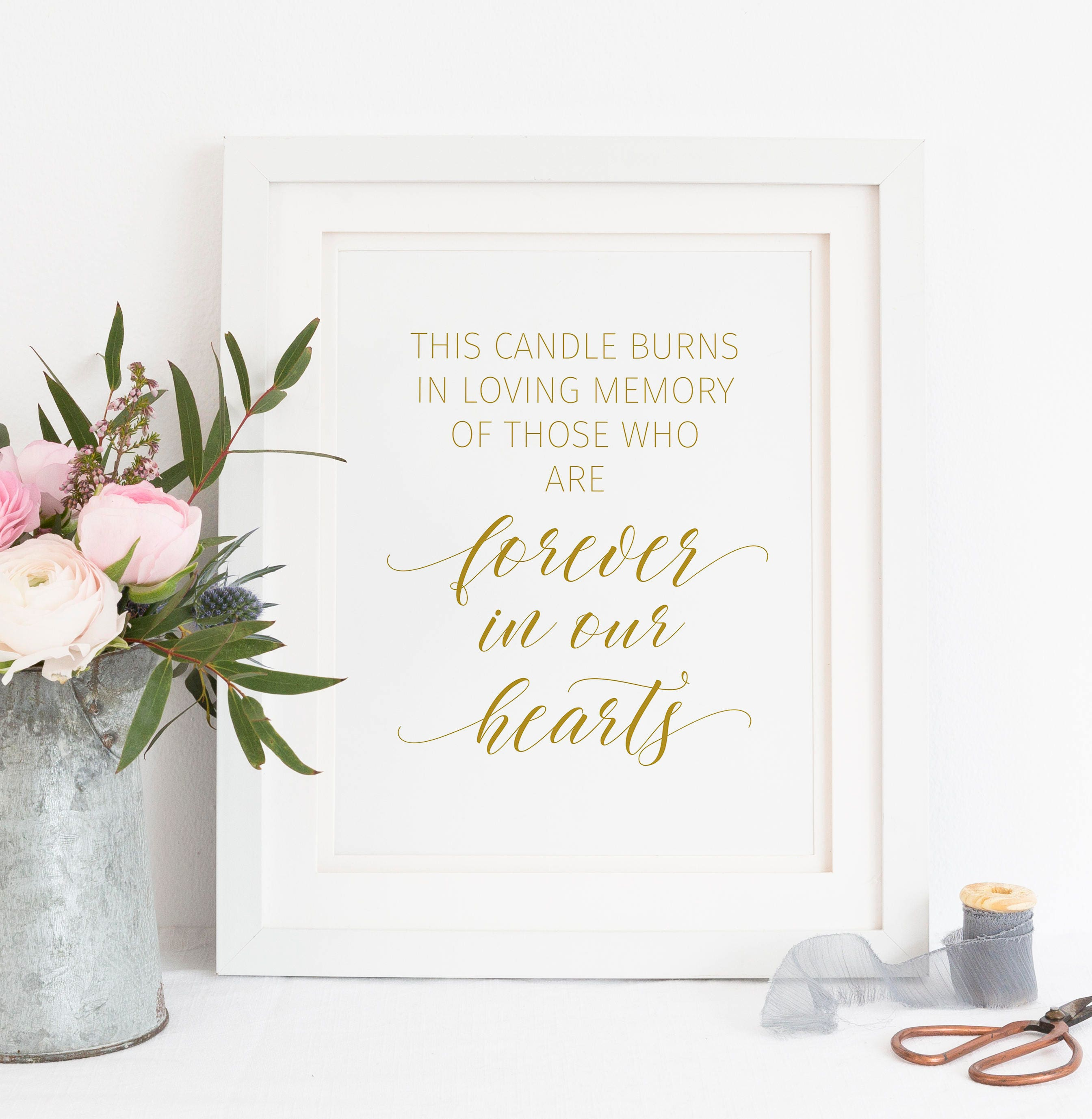 printable forever in our hearts this candle burns in loving