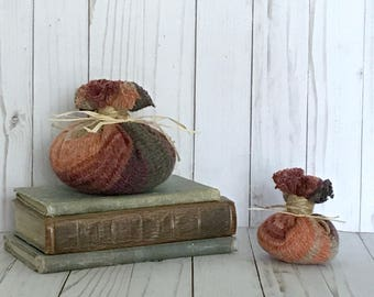 Striped Sweater Pumpkin (small and medium available)