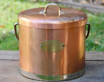 Copper Canister - Copper Ice bucket - Vintage Copper Ice bucket - Vintage Copper - Vintage Copper Canister - Vintage Ice Bucket - Retro Can