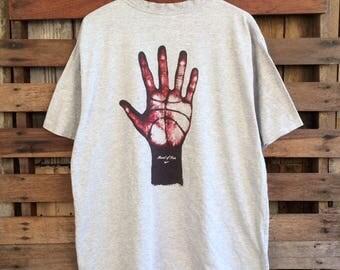 Vtg 90s nike basketball biglogo spellout t shirt !!