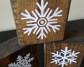 Rustic Winter Sign ~ Farmhouse Sign ~ Snowflake Sign ~ Christmas Decor