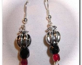 Earrings three tones. Free gift wrapping!