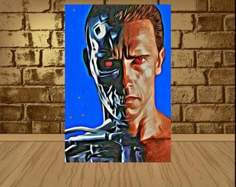 The Terminator poster,The Terminator print,The Terminator art,arnold schwarzenegger poster,arnold schwarzenegger print,painting print,movies