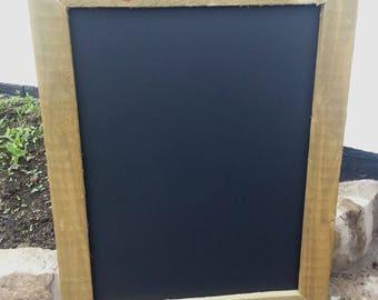 Rustic Solid Wood Framed Chalkboard - 64 x 44cm