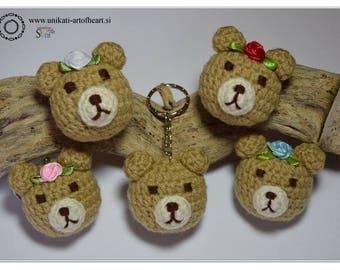 Crochet Bear / Bear Keyring / Bear Keychain / Bear Soft Toy / Bear Pendant / Bear Amigurumi / Rilakkuma Amigurumi / Rilakkuma Plushie / Cute