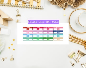Printable Study Labels Stickers, Study Labels, Printable Stickers